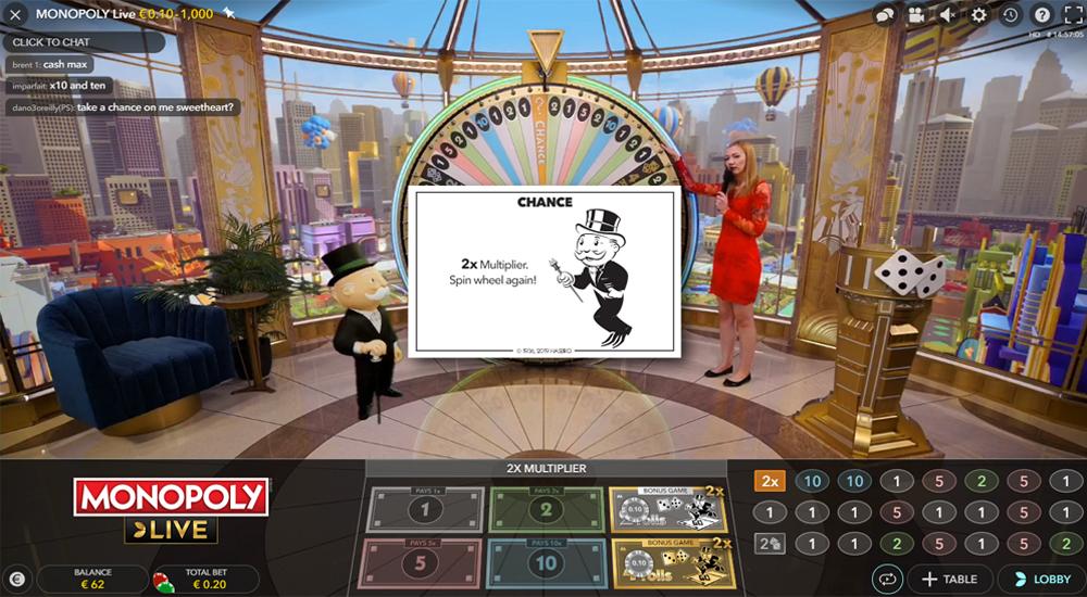 Monopoly Live van Evolution Gaming